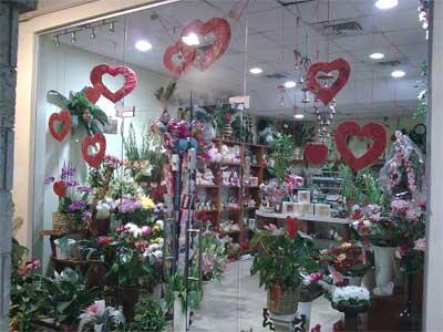 חנות פרחים פרחי בלנקה ביום אהבה